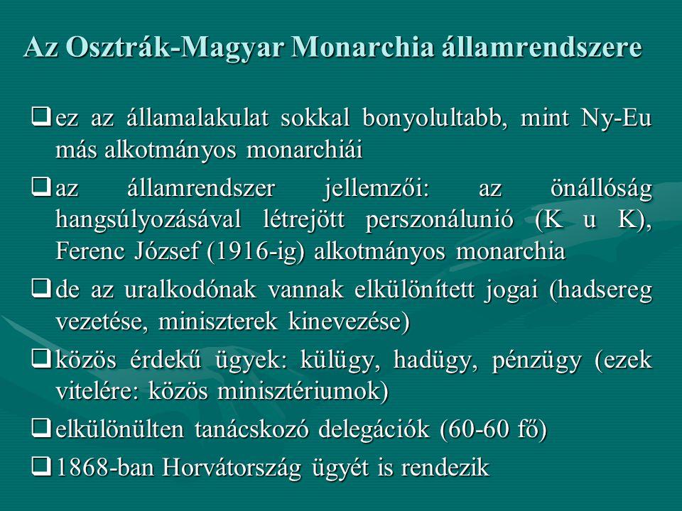 Az Osztrák-Magyar Monarchia államrendszere