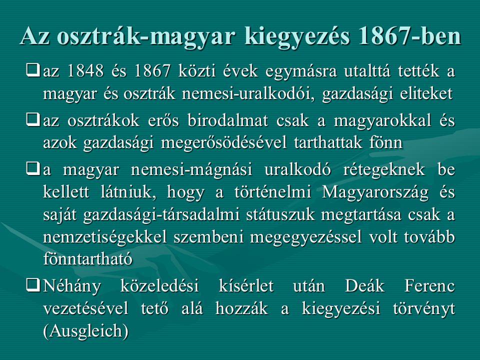 Az osztrák-magyar kiegyezés 1867-ben