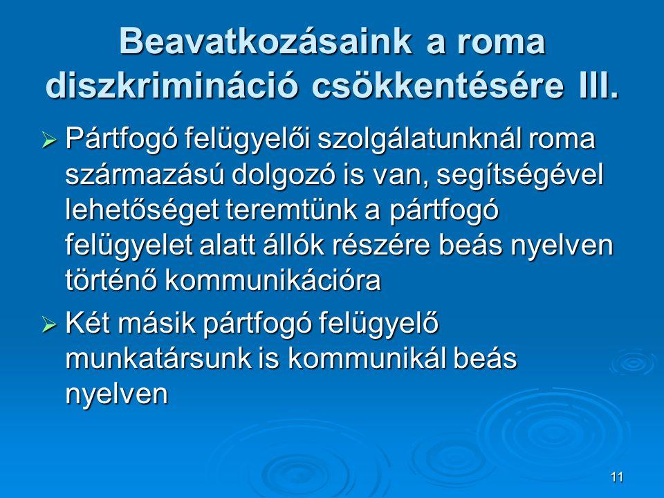 Beavatkozásaink a roma diszkrimináció csökkentésére III.