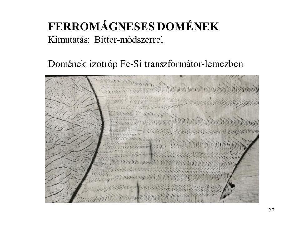 FERROMÁGNESES DOMÉNEK