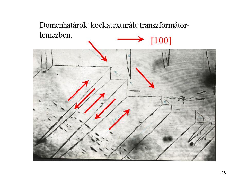 Domenhatárok kockatexturált transzformátor-lemezben.