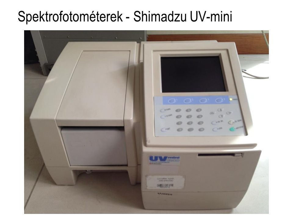 Spektrofotométerek - Shimadzu UV-mini