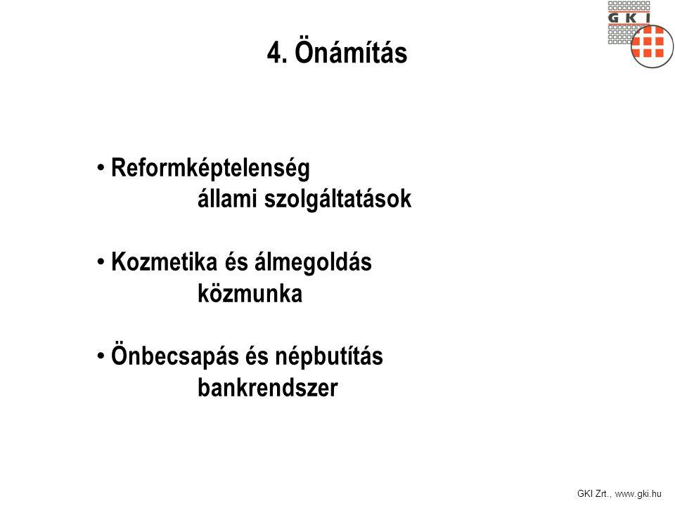 4. Önámítás Reformképtelenség állami szolgáltatások