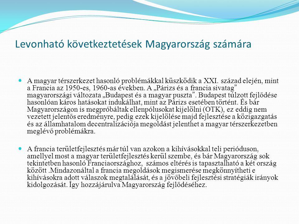 Levonható következtetések Magyarország számára