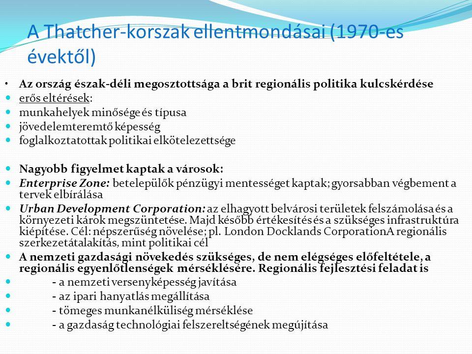 A Thatcher-korszak ellentmondásai (1970-es évektől)
