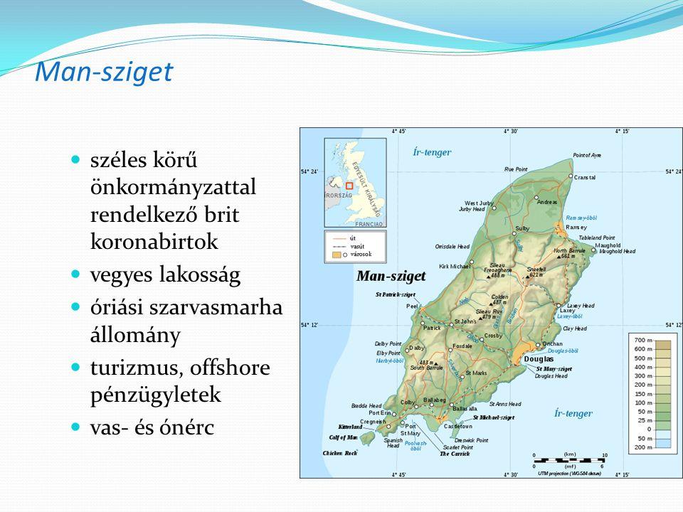 Man-sziget széles körű önkormányzattal rendelkező brit koronabirtok