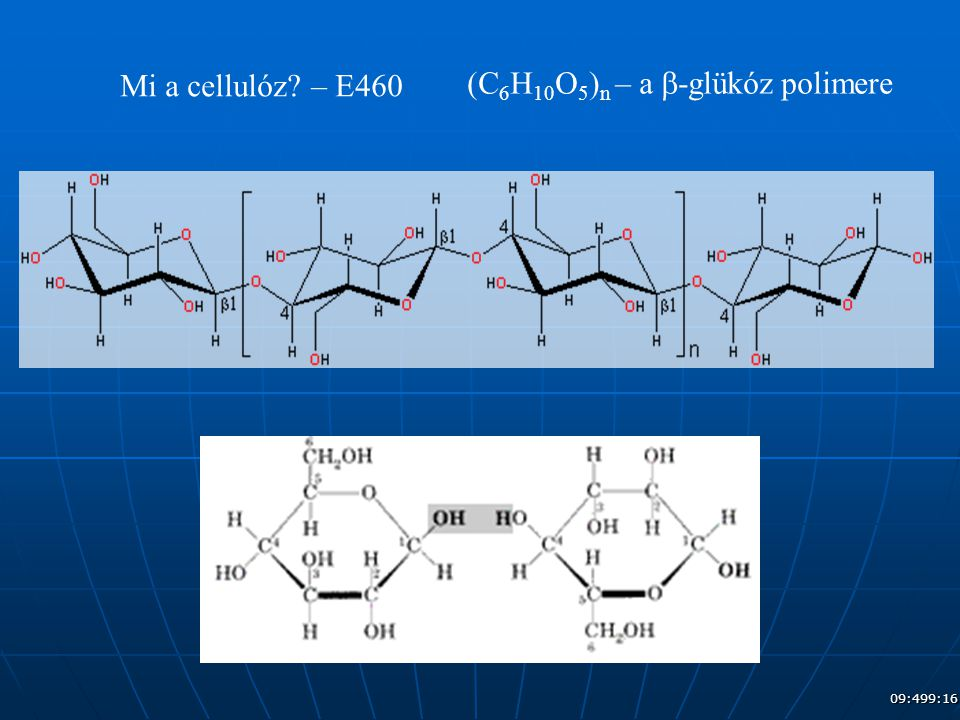 (C6H10O5)n – a b-glükóz polimere