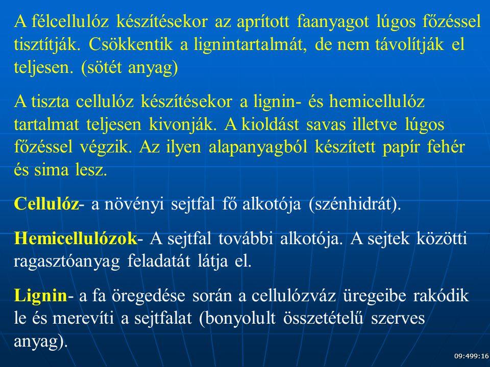 Cellulóz- a növényi sejtfal fő alkotója (szénhidrát).