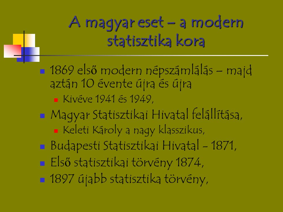 A magyar eset – a modern statisztika kora