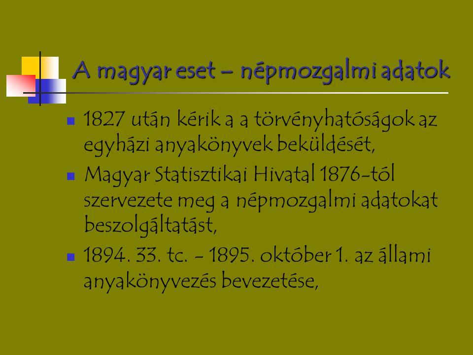 A magyar eset – népmozgalmi adatok