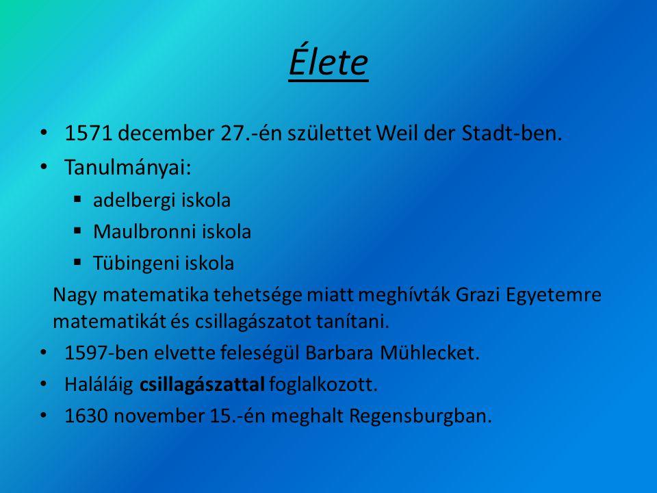 Élete 1571 december 27.-én születtet Weil der Stadt-ben. Tanulmányai: