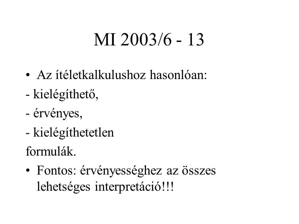 MI 2003/6 - 13 Az ítéletkalkulushoz hasonlóan: - kielégíthető,