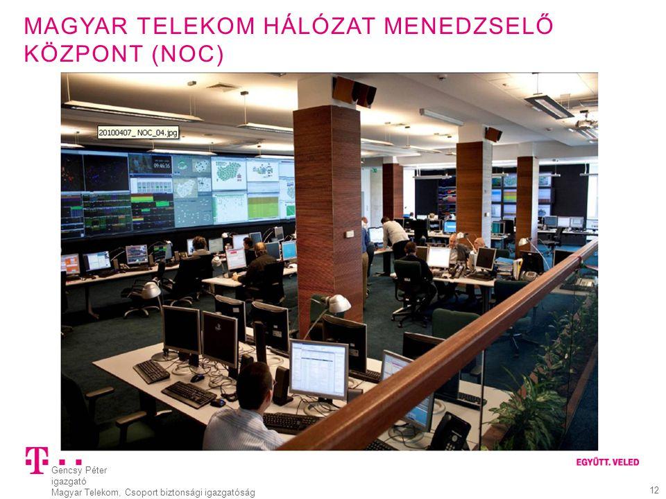 Magyar Telekom Hálózat menedzselő központ (NOC)