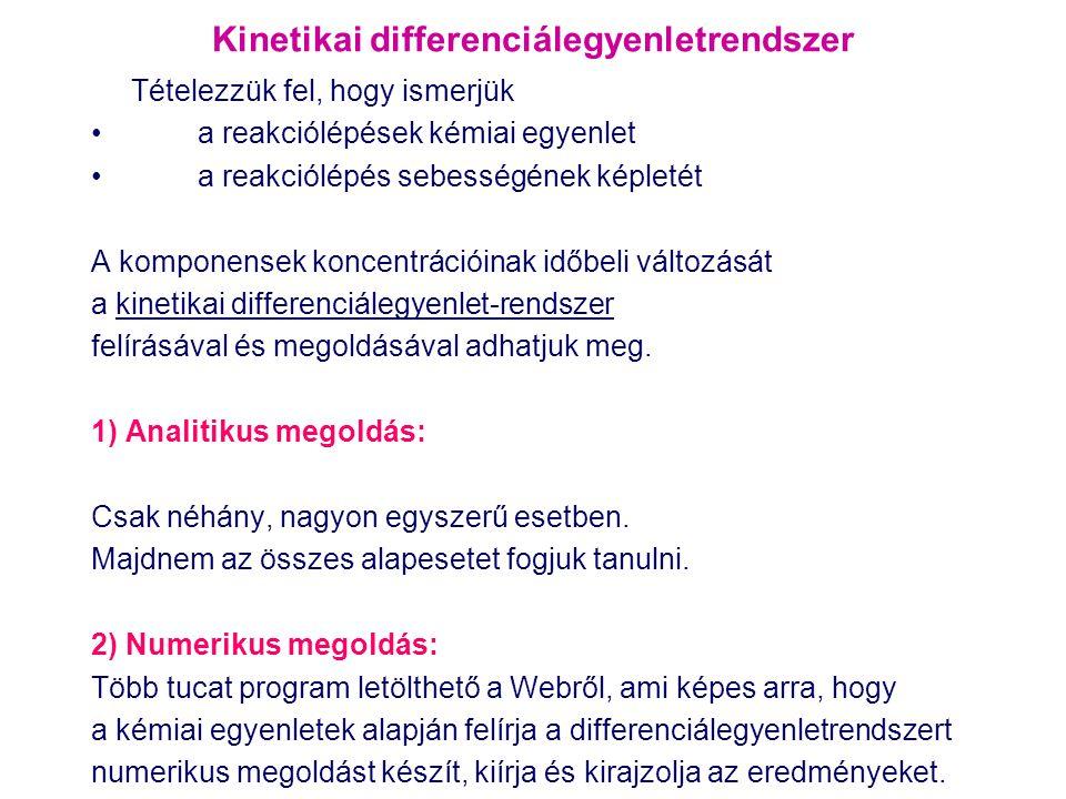 Kinetikai differenciálegyenletrendszer