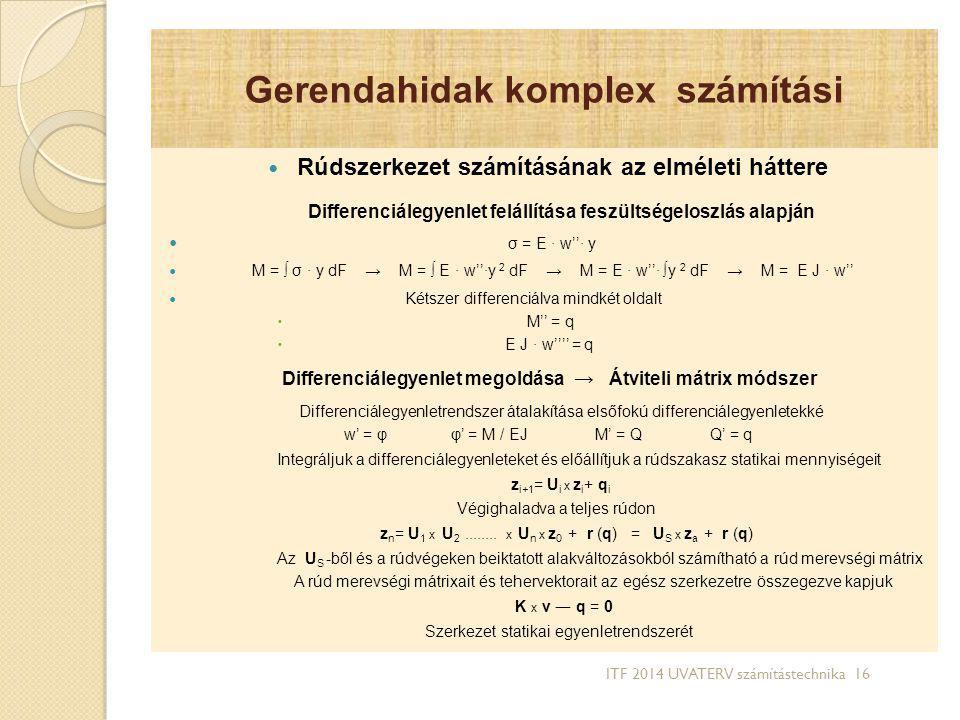 Gerendahidak komplex számítási