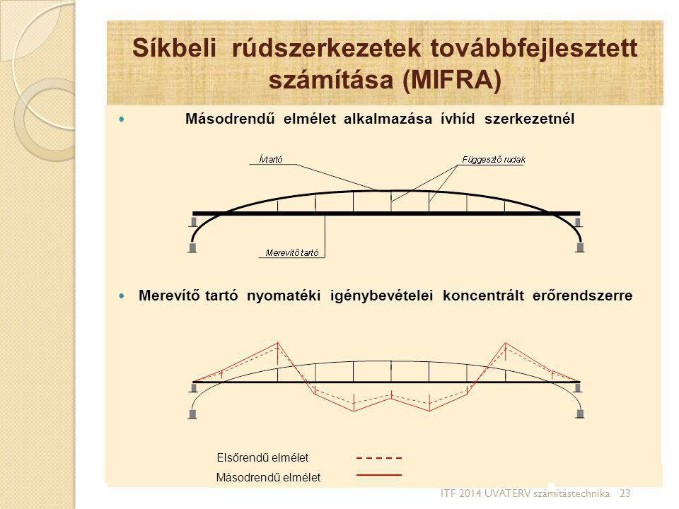 Síkbeli rúdszerkezetek továbbfejlesztett számítása (MIFRA)