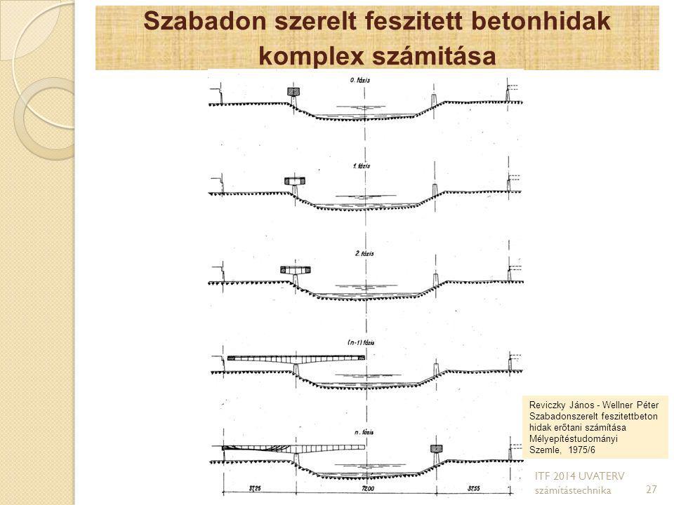 Szabadon szerelt feszitett betonhidak komplex számitása