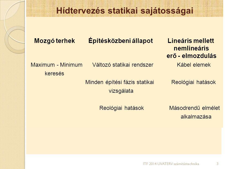 Hídtervezés statikai sajátosságai