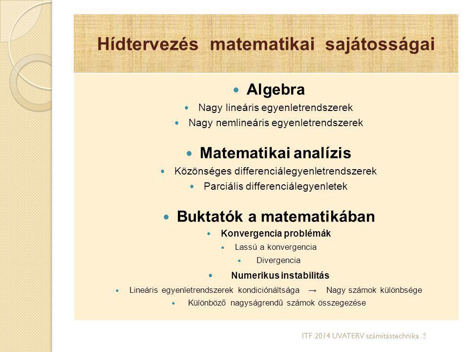 Hídtervezés matematikai sajátosságai