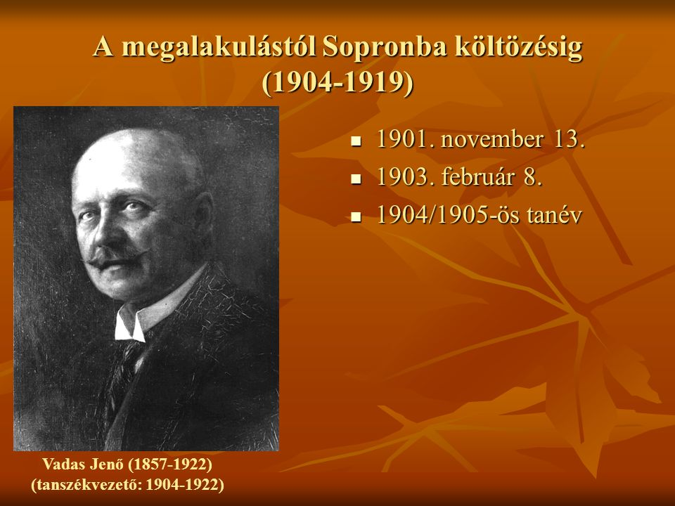 A megalakulástól Sopronba költözésig (1904-1919)