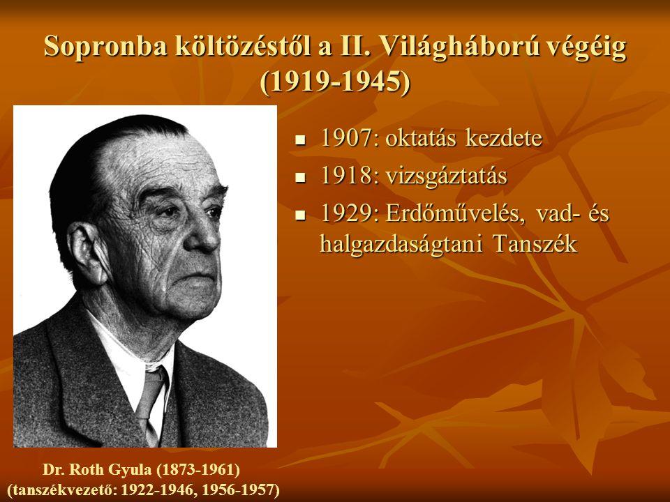 Sopronba költözéstől a II. Világháború végéig (1919-1945)