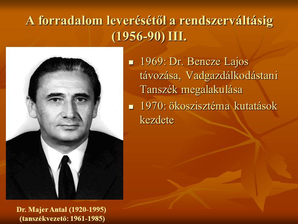 A forradalom leverésétől a rendszerváltásig (1956-90) III.