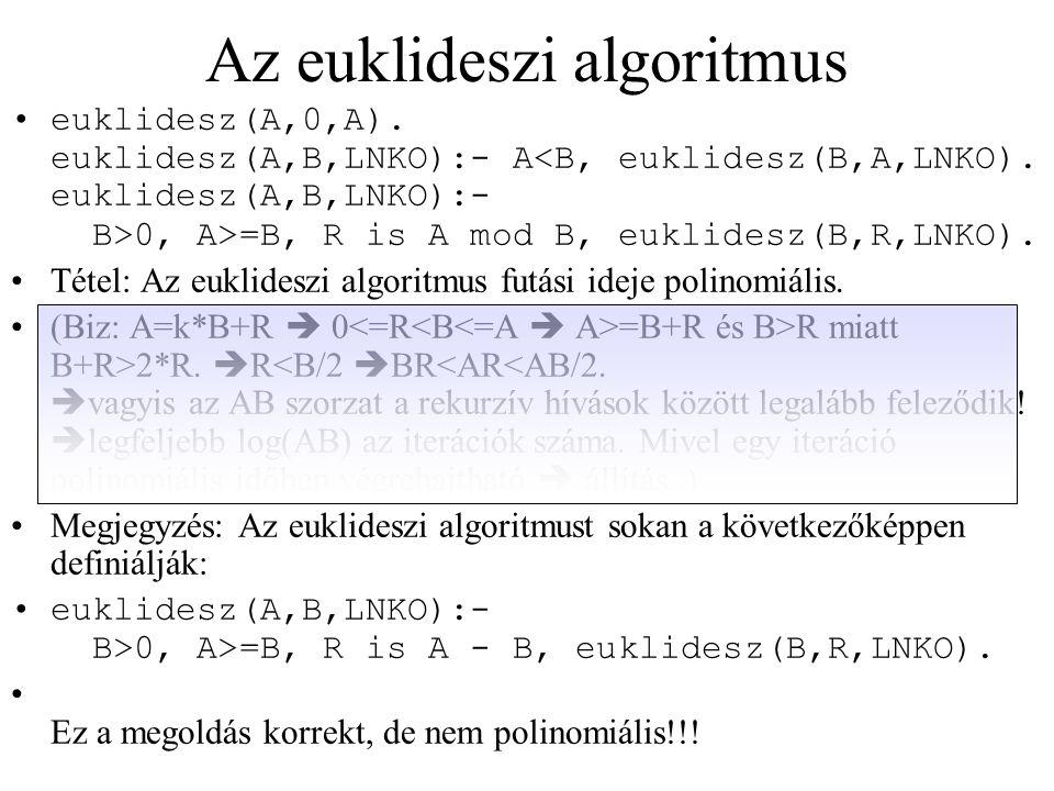 Az euklideszi algoritmus