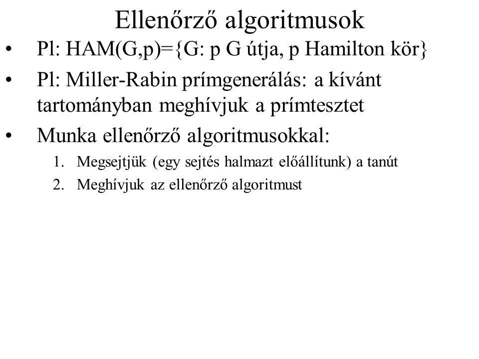 Ellenőrző algoritmusok