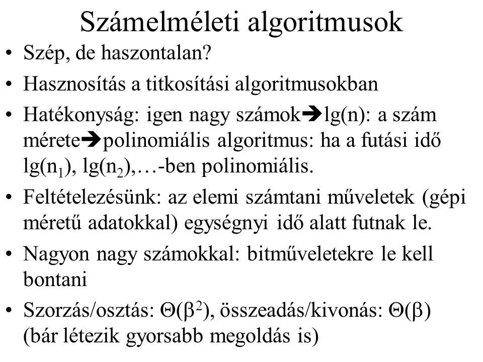 Számelméleti algoritmusok