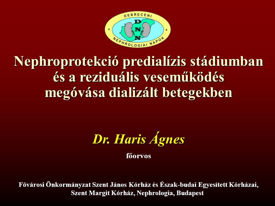 Nephroprotekció predialízis stádiumban és a reziduális veseműködés