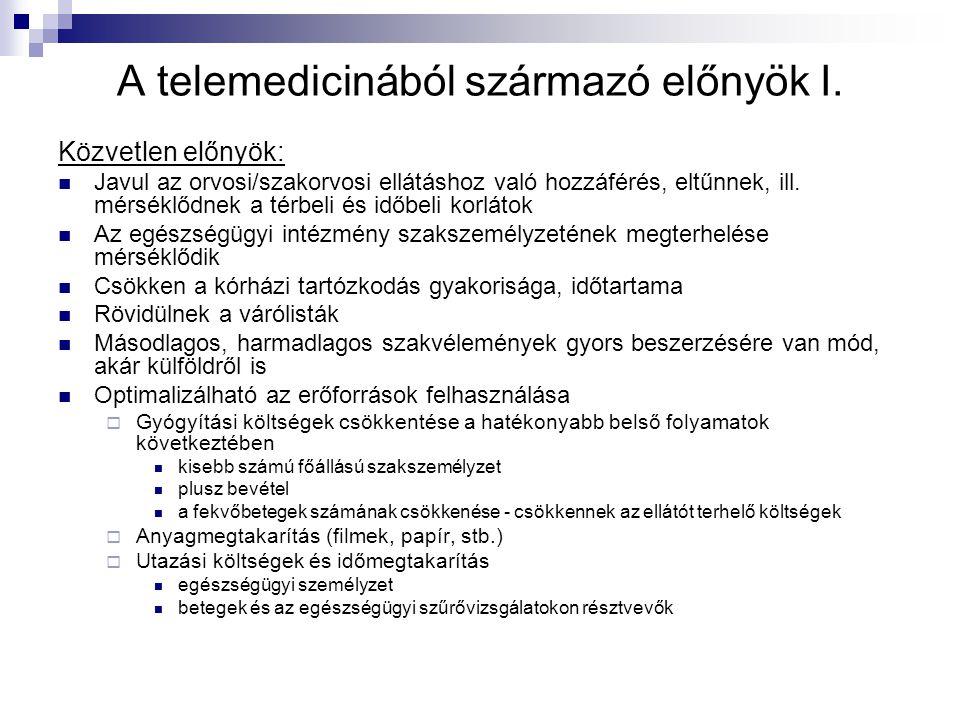 A telemedicinából származó előnyök I.