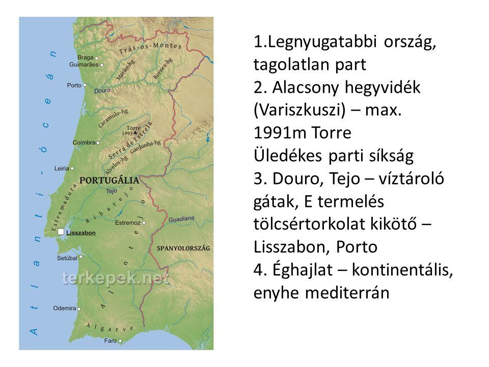 1. Legnyugatabbi ország, tagolatlan part 2