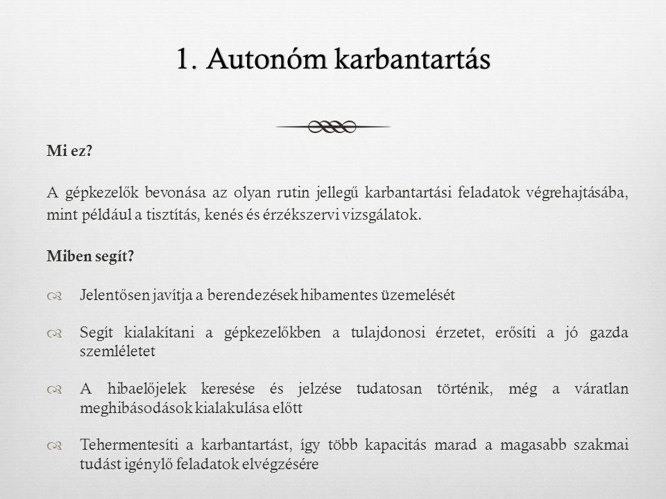 1. Autonóm karbantartás Mi ez