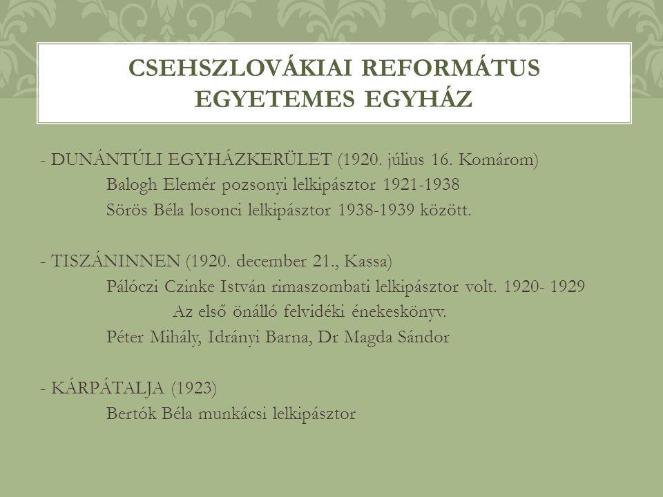 Csehszlovákiai Református Egyetemes Egyház