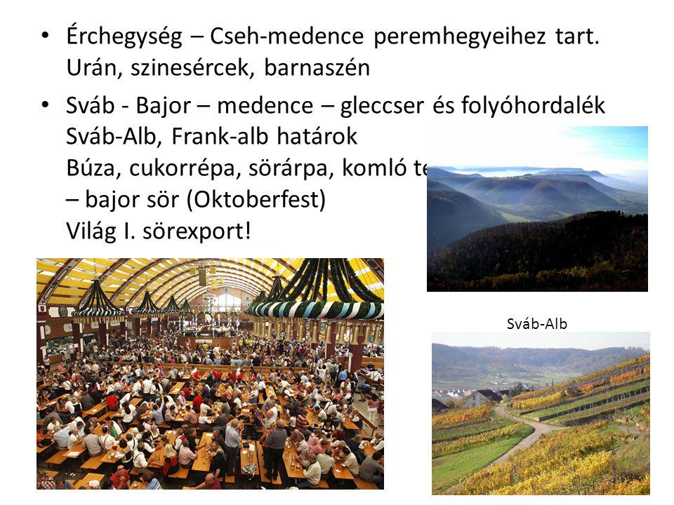 Érchegység – Cseh-medence peremhegyeihez tart