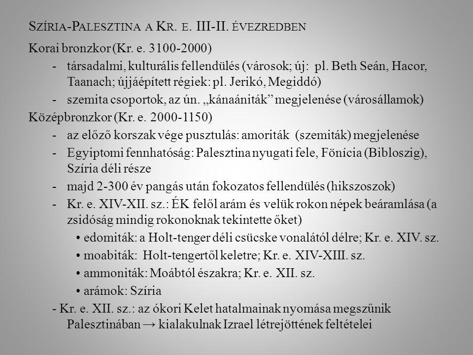 Szíria-Palesztina a Kr. e. III-II. évezredben