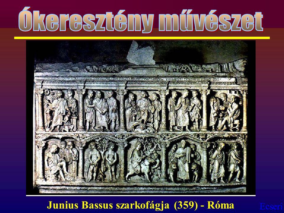 Ókeresztény művészet Junius Bassus szarkofágja (359) - Róma