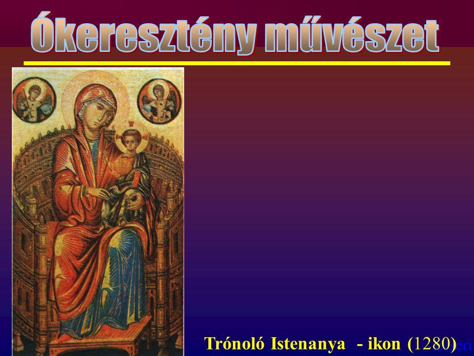 Ókeresztény művészet Trónoló Istenanya - ikon (1280)