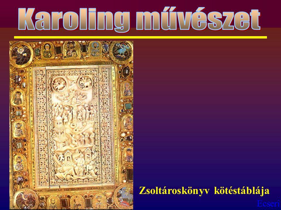 Karoling művészet Zsoltároskönyv kötéstáblája