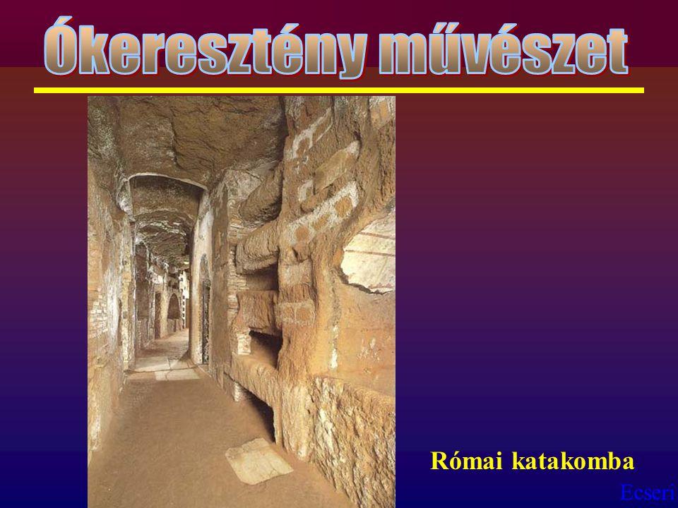 Ókeresztény művészet Római katakomba