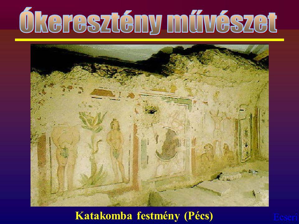 Ókeresztény művészet Katakomba festmény (Pécs)