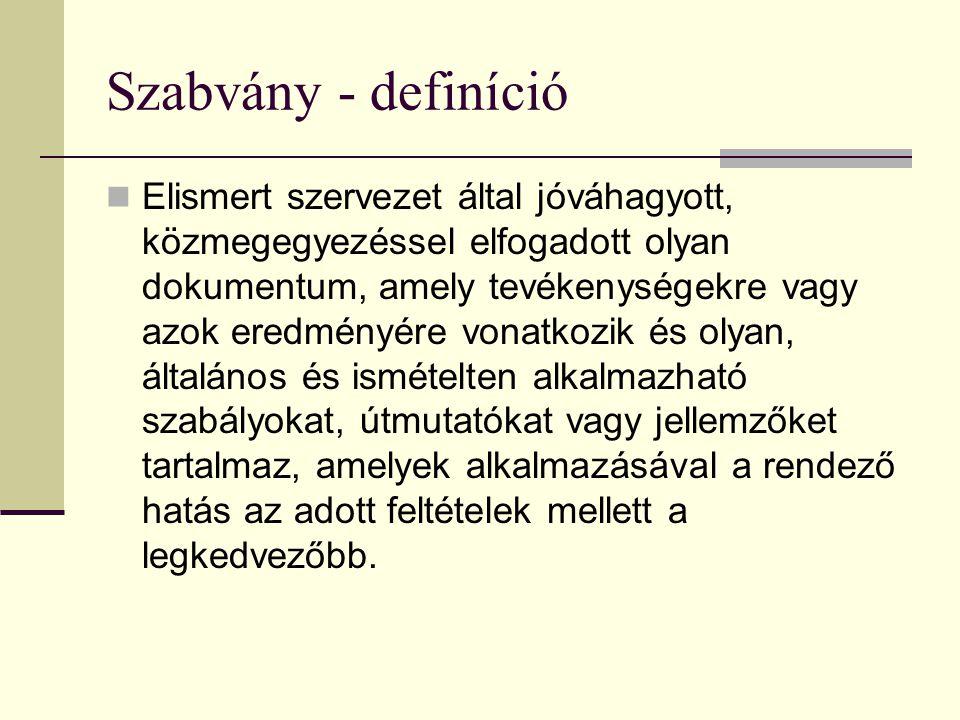 Szabvány - definíció