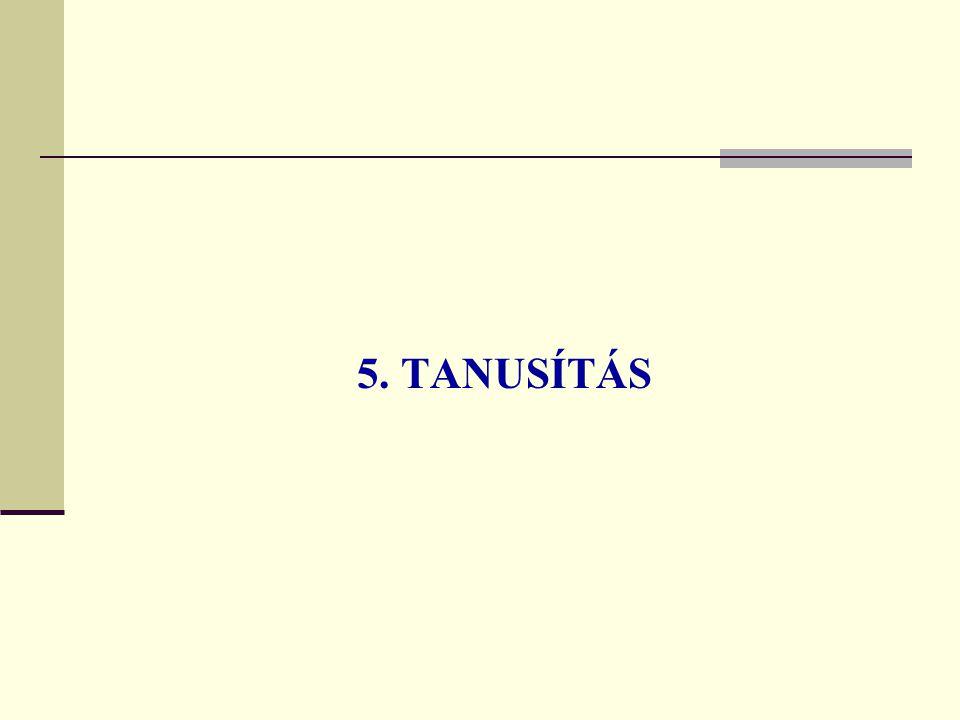 5. TANUSÍTÁS