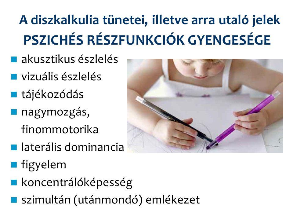 A diszkalkulia tünetei, illetve arra utaló jelek