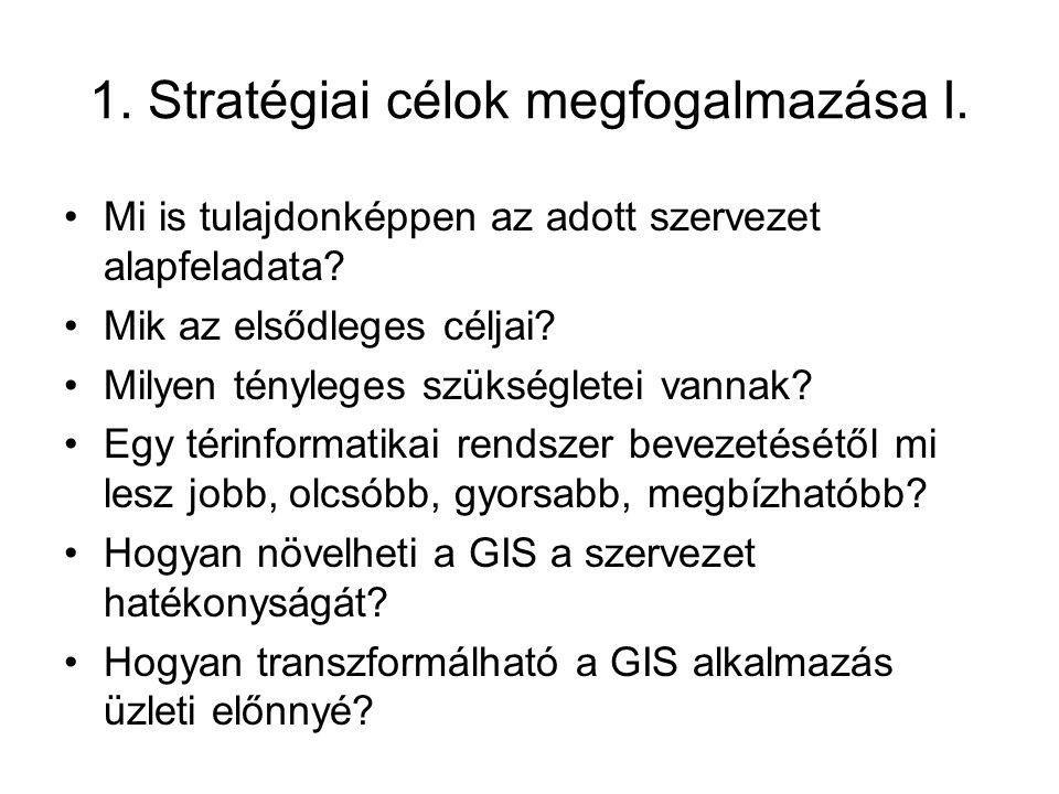1. Stratégiai célok megfogalmazása I.