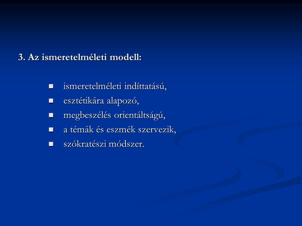 3. Az ismeretelméleti modell: