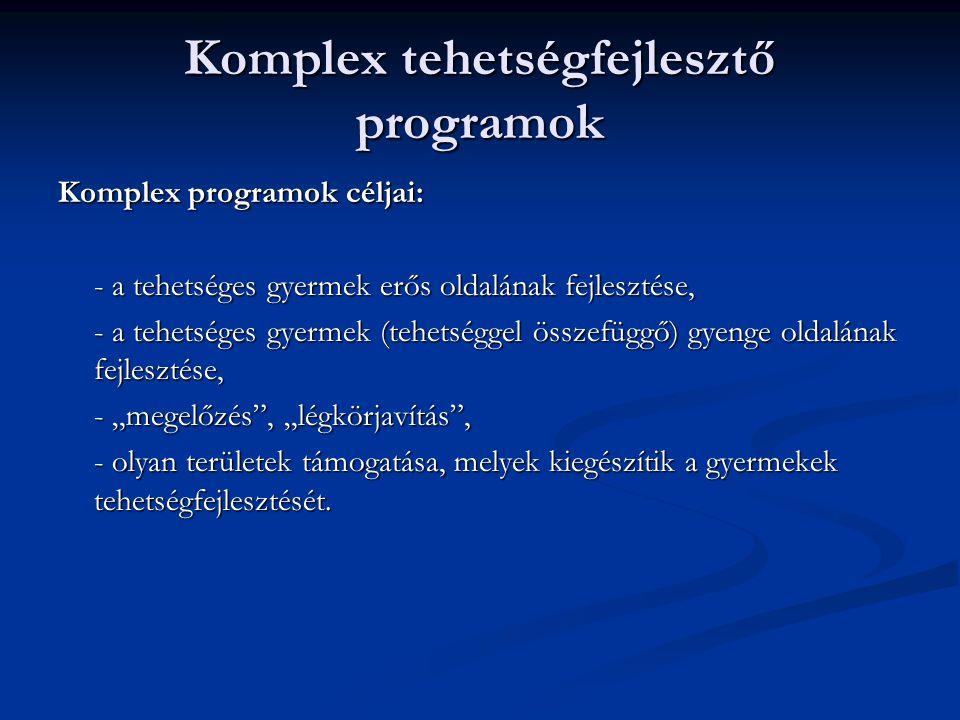 Komplex tehetségfejlesztő programok