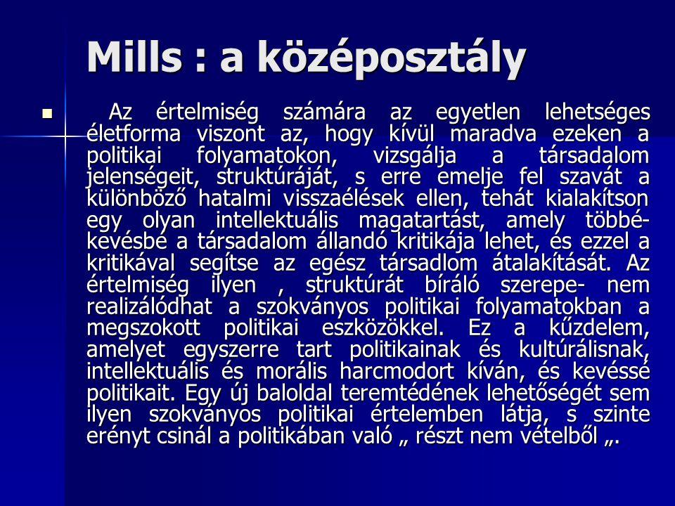Mills : a középosztály