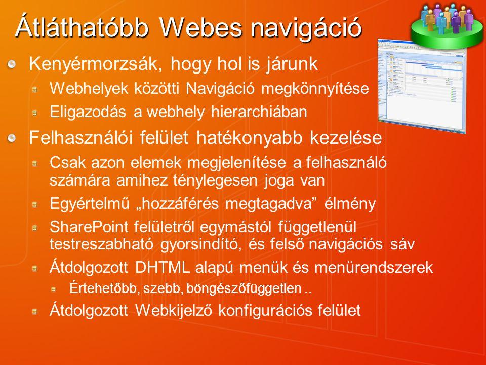 Átláthatóbb Webes navigáció