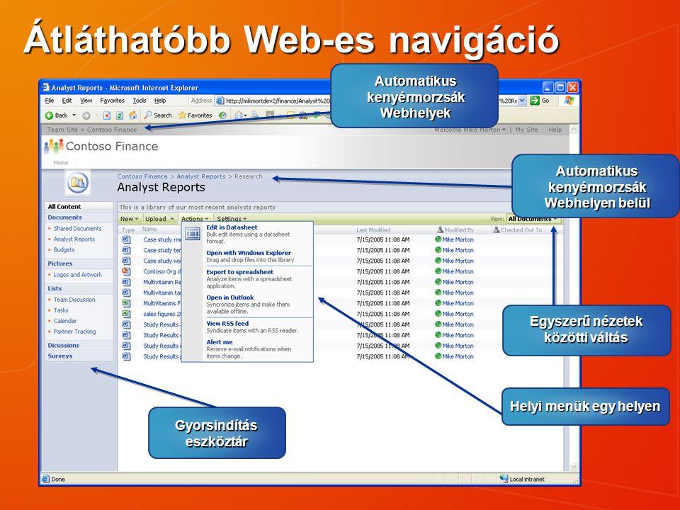 Átláthatóbb Web-es navigáció